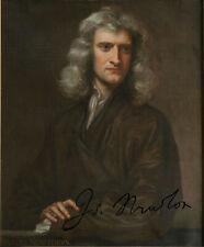 Sir Isaac Newton Naturforscher Autogramm Autograph Philosophie Naturwissenschaft