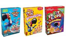Kelloggs Froot Loops Cereals Trio (Birthday Cake,Marshmallow, Wild Berry)