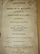 ANTIQUE BOOK 1805 LECTURES ON GOSPEL OF ST MATTHEW PARISH CHURCH WESTMINSTER