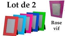 LOT NEUF DE 2 CADRES PHOTO ROSE VIF/ BLEU OU VERT IKEA NYTTJA (FISKBO)
