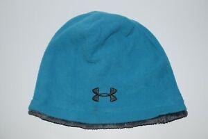 Under Armour Girls 8+ Blue Supper Furry Fleece Beanie Sherpa lined Warm Hat OSFM