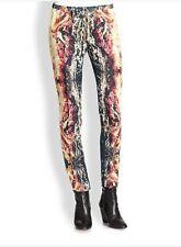 Haute  Hippie Drawstring Printed Silk  Pants   Size L