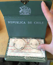 Chile 1968 Silver 2 coins Proof set in origin holder