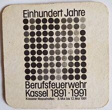 Bierdeckel / Brauerei / Berufsfeuerwehr / Kassel / Meister Plisner