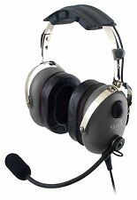 SkyLite Aviation Pilot MP3 GA Headset with GEL, FREE BAG - Made in Korea - Grey