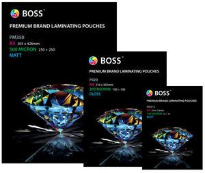 Laminating Pouches A2 Size Gloss 250 Micron - 25 Pouches