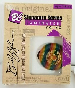 Vintage 1996 Rainbow BC Yo-Yo Smithsonian Champion Hardwood #51 Laminated NEW