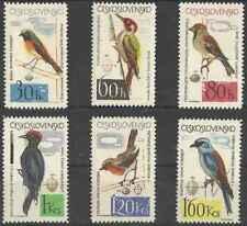 Timbres Oiseaux Tchécoslovaquie 1361/6 ** lot 23994 - cote : 14 €