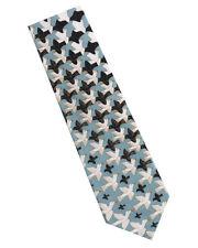 M.C. Escher Metamorphosis Silk Tie - Blue/Black