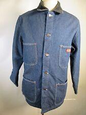VTG Men's Dickies Button Denim Jean Blanket Lined Jacket Size M 11196