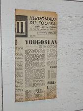 FRANCE FOOTBALL OFFICIEL HEBDOMADAIRE FFF N°395 13/10 1953