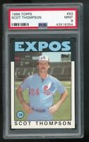 1986 Topps #93 Scot Thompson Montreal Expos PSA 9 MINT SET BREAK!