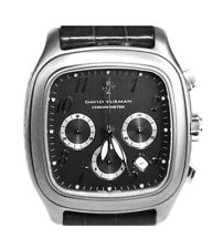 Chronograph New Watch Box Tags $4450 David Yurman Xl Titanium Thoroughbred Date