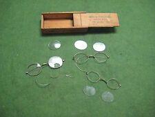 Lot of (3) Antique Gold Eyeglasses Glasses - Geneva Optical Co. St. Louis Mo.