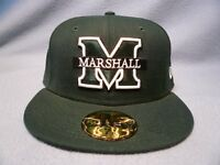 New Era 59fifty Marshall Thundering Herd Solid BRAND NEW cap hat Fitted The Herd