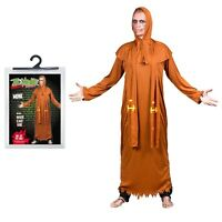 Halloween One Size Mens Zombie Monk Robe Fancy Dress Costume Medieval Party