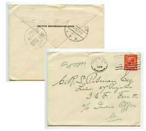 GB 1915 from Ornithologists' Union [Birds], London to Pitman 27th Punjabis I.E.F