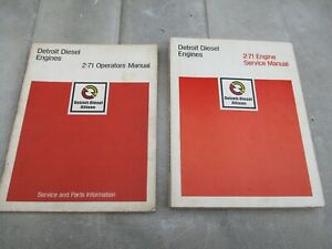 Detroit Diesel 2-71 Operators and Engine Service Manual