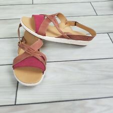 EMU Australia size 7 Karri Women's Sandals Red Tan NEW