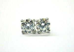 Tiffany & Co Platinum Round Diamond Stud Earrings 1.42Ct F/VS1-2