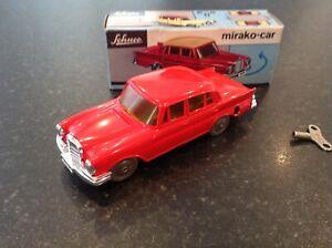 schuco mirador car wind up Mercedes ,1001 plastic car metal base