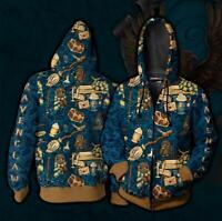 Harry Potter Hogwarts Ravenclaw Hoodie Men's 3D Cosplay Sweatshirt Coat Jacket