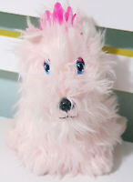 Animagic Pink Plush Toy Dog Yips & Pants w/ Tiara 17cm Tall!
