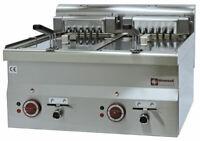 Fritteuse Friteuse Fritöse Elektro 2 Becken á 10 L 15 kW 600x600x280mm Gastlando