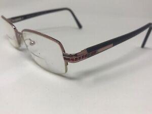 Prada Halfrimless Eyeglasses Italy VPR67F 3BH-1O1 50-17-135 Pink Burgundy CW59