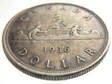 1936 Canada 1 One Dollar Circulated Silver Canadian George V Coin R616