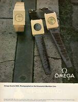 1980 Original Advertising' American Omega Watch Quartz 1355