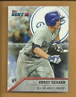 Corey Seager RC 2016 Topps Bunt Rookie Card #15 Los Angeles Dodgers Baseball