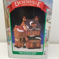 Dickensville Fish Market Lighted Building Christmas Village Noma Holiday Decor