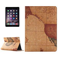 Apple iPad Air 2 Custodia protettiva pelle sintetica Cover MAPPAMONDO Marrone