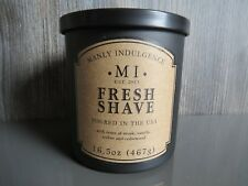 Manly Indulgence Scented Candle Tin FRESH SHAVE Large 16.5oz/467g