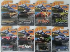 2018 Hot Wheels Ford Truck Series - Walmart Exclusive - Complete 8 Vehicle Set