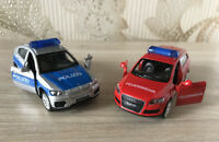 Caipo 1:43 Audi Q7 FEUERWEHR BMW X6 Police Car Alloy Vehicles Model Kids Toy