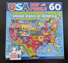 United States Usa Map Puzzle 50 States With Capitals 60 Pieces - Same-Day Ship