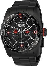 Invicta Men's 49mm 'GMT Aviator' Quartz Red & Black Stainless Steel Watch 22985
