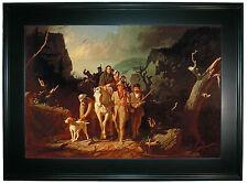 Bingham Daniel Boone escorting settlers -Black Framed Canvas Print Repro 25x34