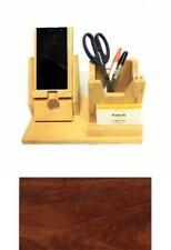 Phone Charging Station Pen Supplies and Cards Holder Desktop Organizer - Cherry