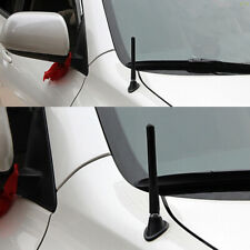 """4.7"""" Black Antenna Aluminum Carbon Fiber Style Car FM AM Radio Aerial With Screw"""