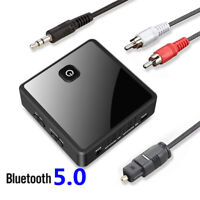 Transmitter Receiver Wireless Adapter Bluetooth 5.0 Low Latency 3.5mm AUX Jack