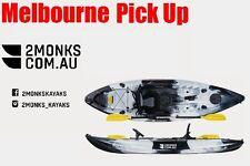 Fishing Kayak Single Sit-On 3M 5 Rod Holders Seat Paddle Melbourne black&white