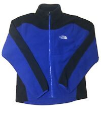 Vintage The North Face Fleece Jacket Men's Size Medium Blue Black Full Zip