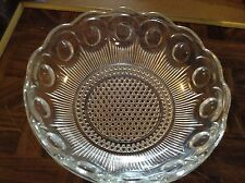 Clear glass bowl with indented circles