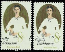 1436, Mint NH 8¢ Emily Dickinson Color Shift ERROR With Normal -- Stuart Katz