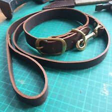 Handmade Leather Dog Collar And Lead