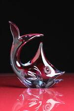 Glas Fisch Murano Figur Skulptur Deko Delphin