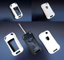 PORSCHE White Remote Flip Key Cover Case Skin Shell Cap Fob Protection Hull 997-